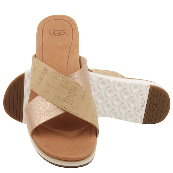 b00625cec0d Ugg Kari cork rose gold sandals sz: 7